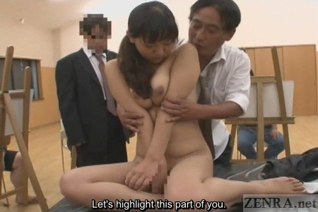 CMNF ENF embarrassed Japanese art model