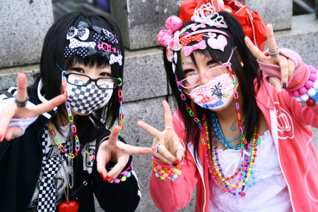 Japanese gyaru visual kei fans