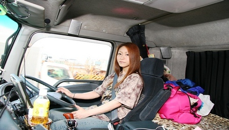 Japanese female truck driver