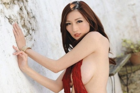 Japanese AV star JULIA outdoors