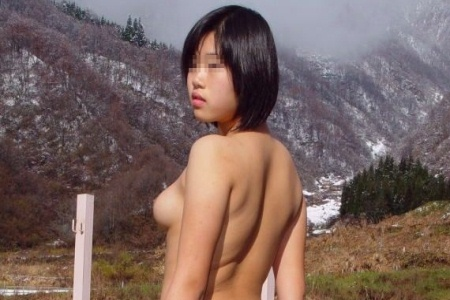 Japanese woman nude in nature