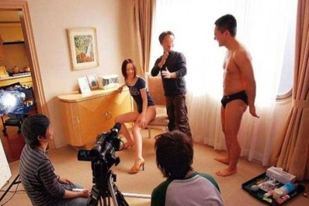 Japanese AV set behind the scenes