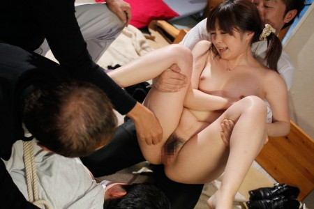 Japanese woman spread by older men