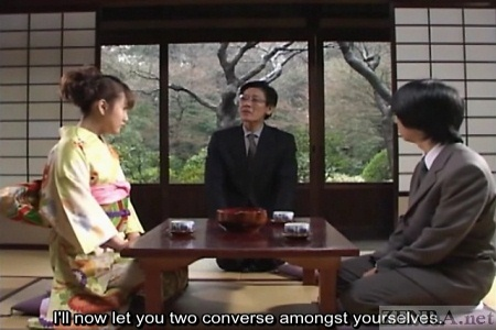 Japanese arranged marriage meeting in Spring